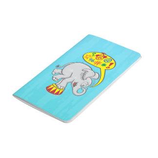 Angry circus elephant saying bad words journal