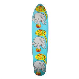 Angry circus elephant saying bad words skateboard decks