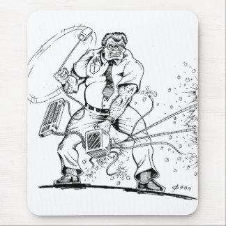 Angry Computer Guy Mouse Mat