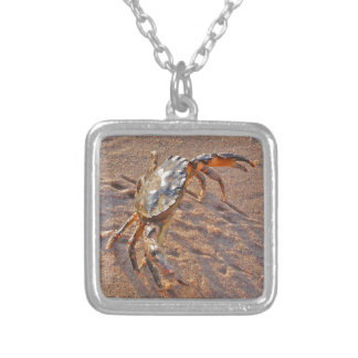 Angry Crab Silver Plated Necklace