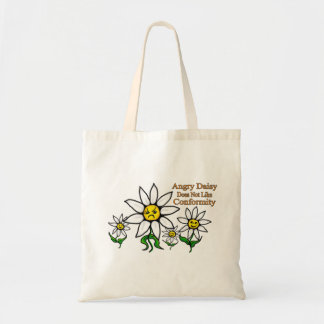 Angry Daisy Does Not Like Conformity Tote Bag