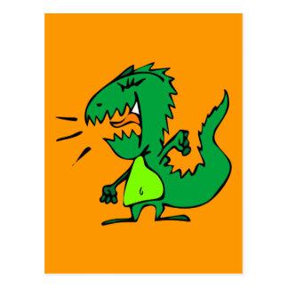 Angry Dinosaur Postcard