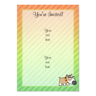 Angry Dog design 13 Cm X 18 Cm Invitation Card
