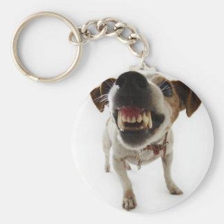 Angry dog key ring