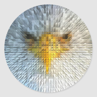 Angry Eagle Round Sticker