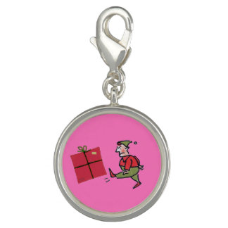 Angry Elf round charm
