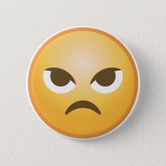 Angry Emoji 6 Cm Round Badge