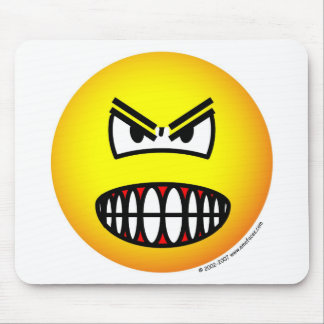 Angry emoticon mouse mat