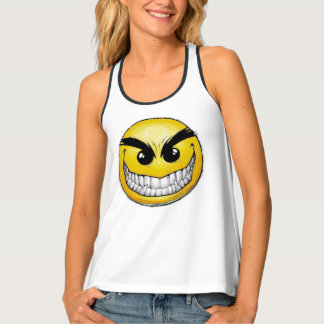 Angry Emoticon Tank Top