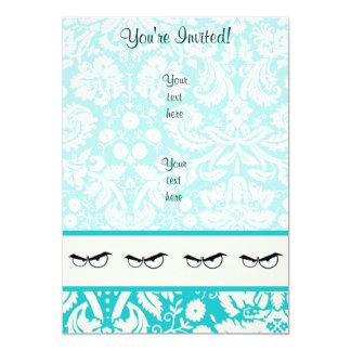 Angry Eyes; Cute 13 Cm X 18 Cm Invitation Card