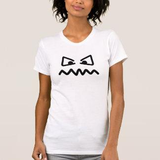 Angry eyes face tee shirt