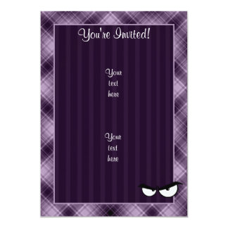 Angry Eyes; Purple 13 Cm X 18 Cm Invitation Card
