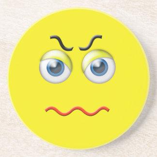 Angry Face Emoji Coaster