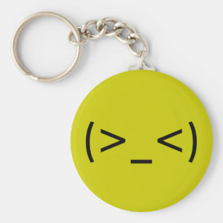 Angry Face (Japanese Smiley) Key Ring