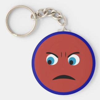 Angry Face Key Ring