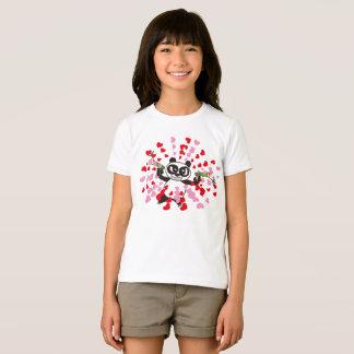 Angry Face Panda Loves T-Shirt
