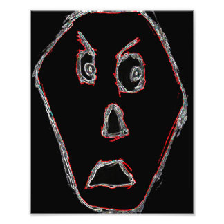 Angry Face Photo Art