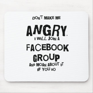 angry facebook mouse mat