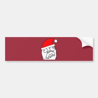 Angry FFFUUU xmas meme Bumper Stickers