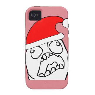 Angry FFFUUU xmas meme Case-Mate iPhone 4 Case