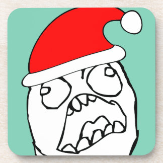 Angry FFFUUU xmas meme Coaster