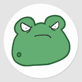 Angry Frog Round Sticker