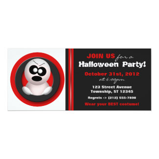 Angry Ghost - Red Halloween Party Invitations