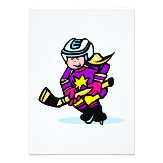 Angry girl player 13 cm x 18 cm invitation card
