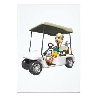 Angry Golfer 13 Cm X 18 Cm Invitation Card
