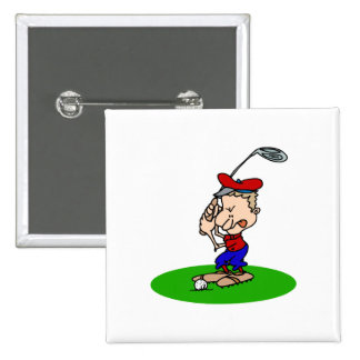 Angry Golfer Pinback Buttons