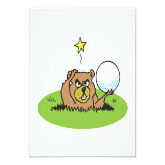 Angry Gopher 13 Cm X 18 Cm Invitation Card