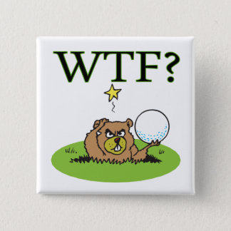 Angry Gopher 15 Cm Square Badge