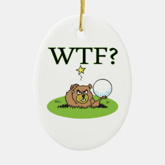 Angry Gopher Christmas Ornament