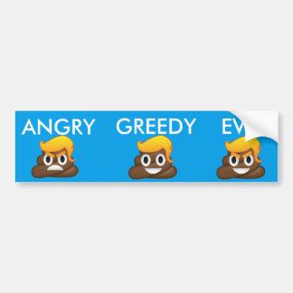 Angry Greedy Evil Trump Bumper Sticker