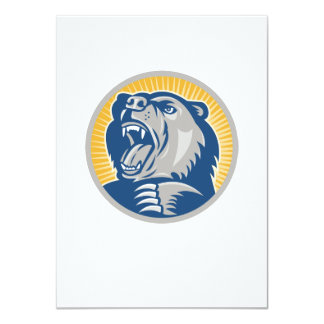 Angry Grizzly Bear Attacking Invitations