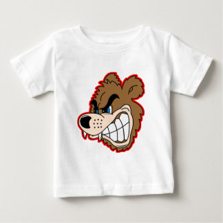angry growling bear face baby T-Shirt