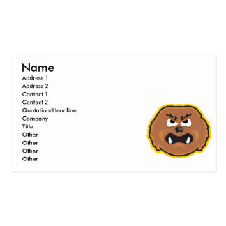 angry hairy monster face pack of standard business cards
