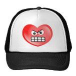 Angry Heart Trucker Hats