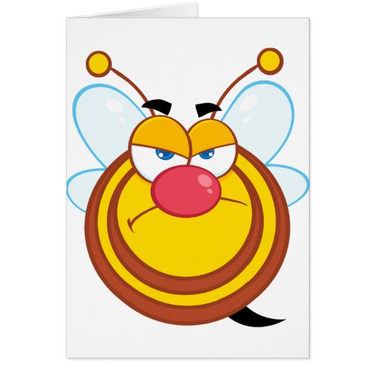 Angry Honey Bee Greeting Cards