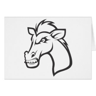 Angry Horse Greeting Card