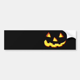 angry jack o lantern bumper stickers