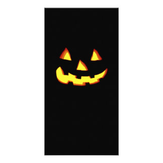 angry jack o lantern picture card