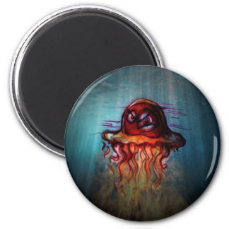 Angry Jellyfish Magnet