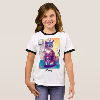 Angry kitty ringer T-Shirt