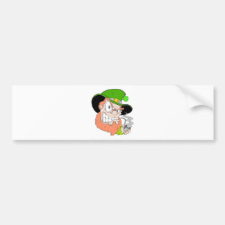 Angry Leprechaun Car Bumper Sticker