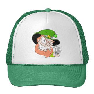 Angry Leprechaun Mesh Hat