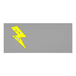 Angry Lightning. Yellow on Gray. Personalized Invite