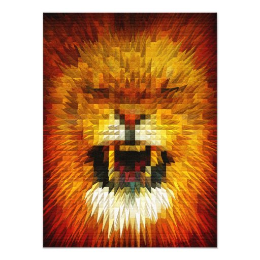 Angry Lion Photographic Print