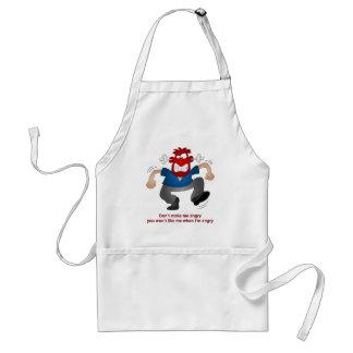 Angry man standard apron