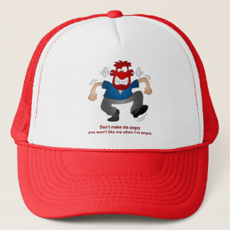 Angry man trucker hat